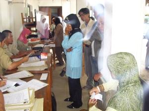 suasana pendaftaran PNS BKD Banjarbaru
